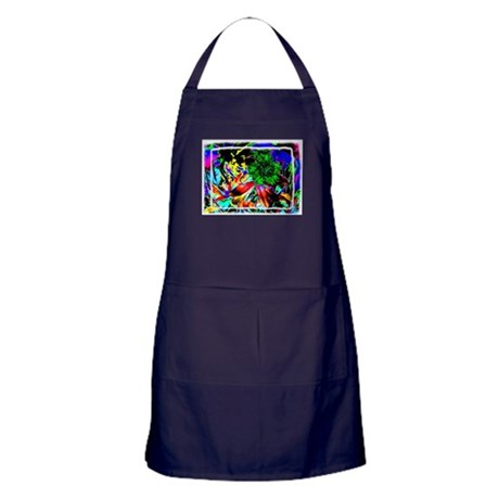Green Flower Apron (dark)