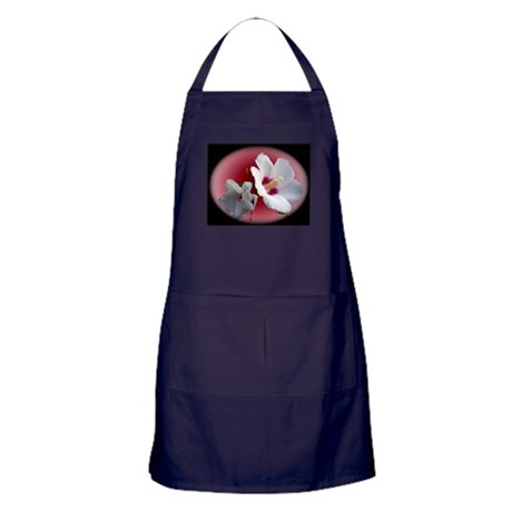 Rose of Sharon Apron (dark)