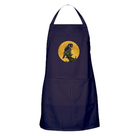 Owl and Moon Apron (dark)