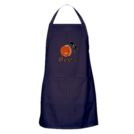 Halloween Pumpkin and Cat Apron (dark)