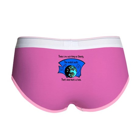 No Gravity The World Sucks Women's Boy Brief