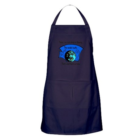 No Gravity The World Sucks Apron (dark)