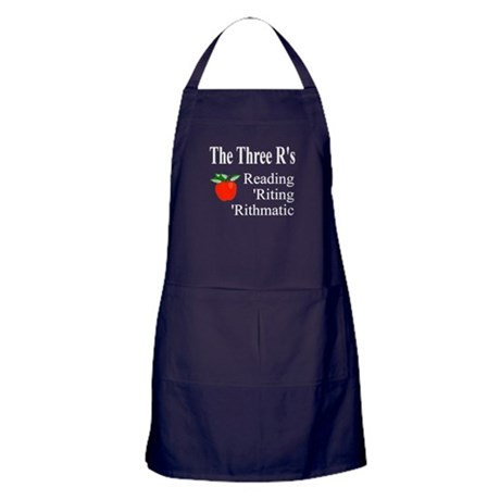 The Three R's Apron (dark)
