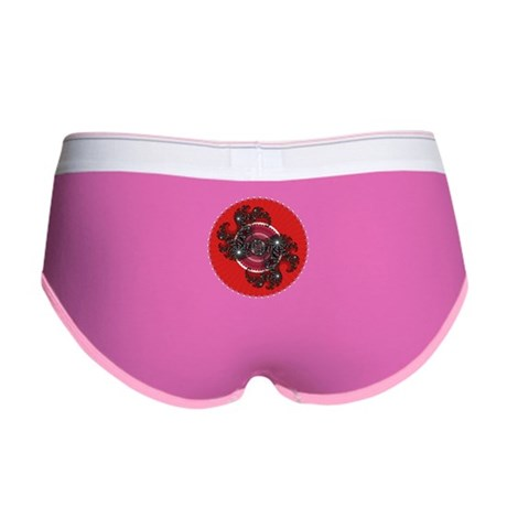 Fractal Kaleidoscope Red 2 Women's Boy Brief
