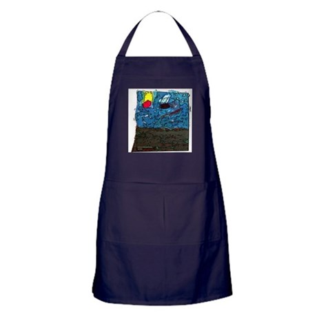Two Asteroids Apron (dark)