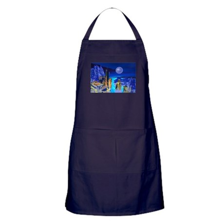 Fantasy Cityscape Apron (dark)