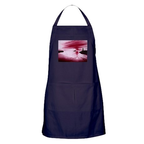 Lighthouse Sunset Apron (dark)