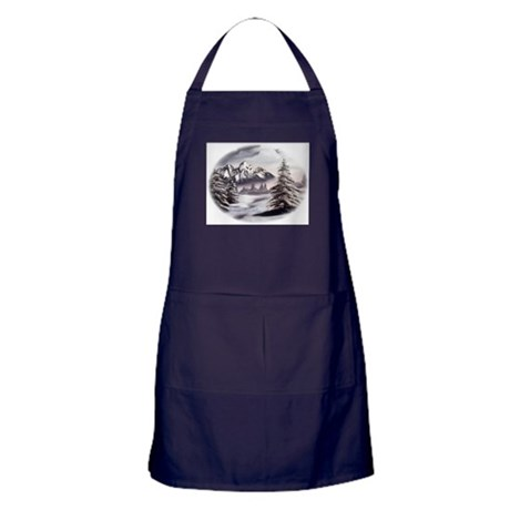 Snow Mountain Apron (dark)