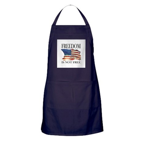 Freedom is not free Apron (dark)