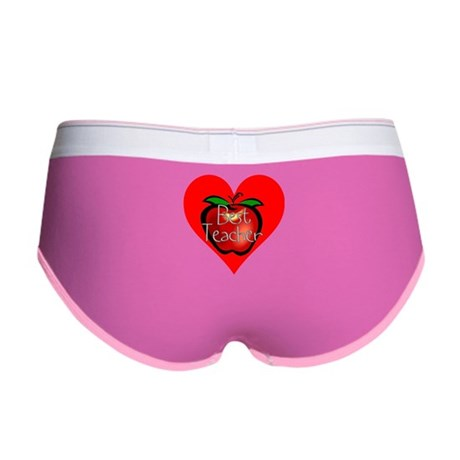 Best Teacher Apple Heart Women's Boy Brief