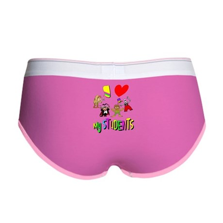I Love My Students Women's Boy Brief