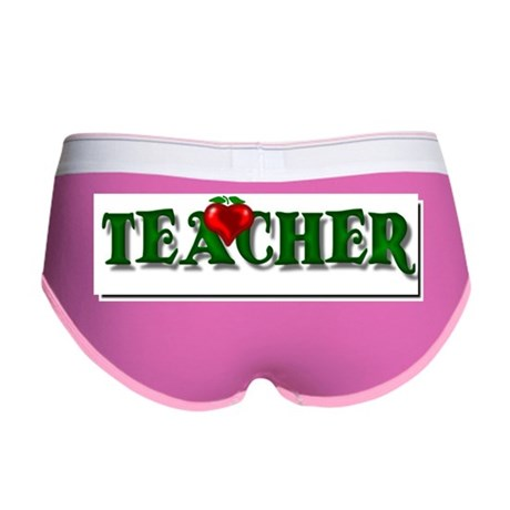 Teacher Apple Women's Boy Brief