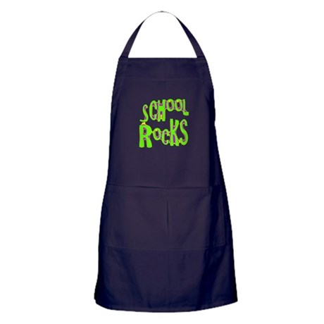School Rocks - Lime Apron (dark)