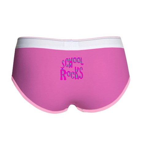 School Rocks - Hot Pink Women's Boy Brief