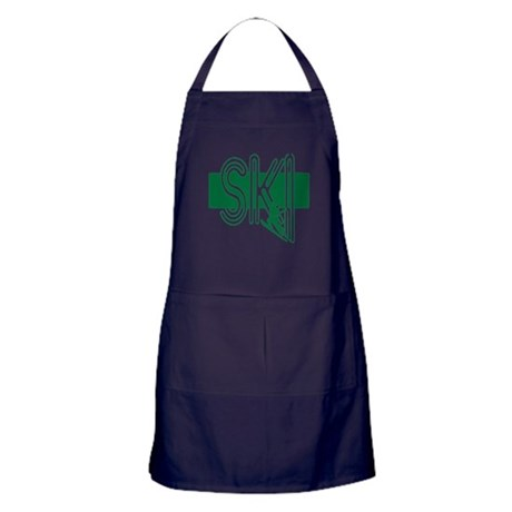 Ski Green Apron (dark)