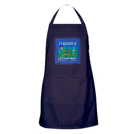 Rather be Fishing Apron (dark)