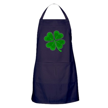 Lucky Four Leaf Clover Apron (dark)