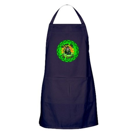 Kiss Me Irish Leprechaun Apron (dark)