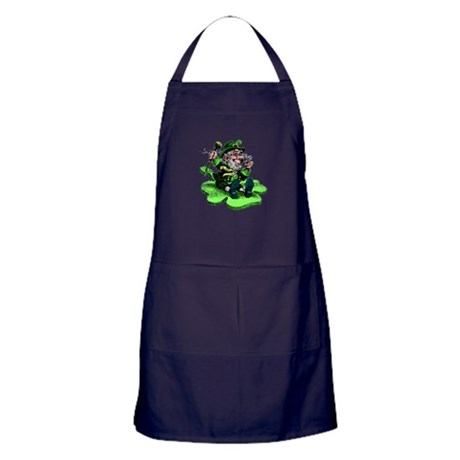 Leprechaun on Shamrock Apron (dark)