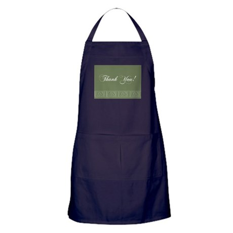 Thank You Roses Apron (dark)