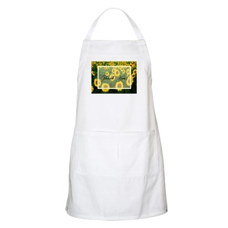 Sunflower Field Thank You Apron
