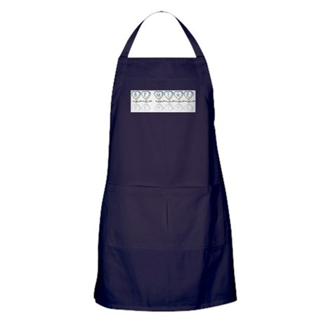Be Mine Hearts Apron (dark)