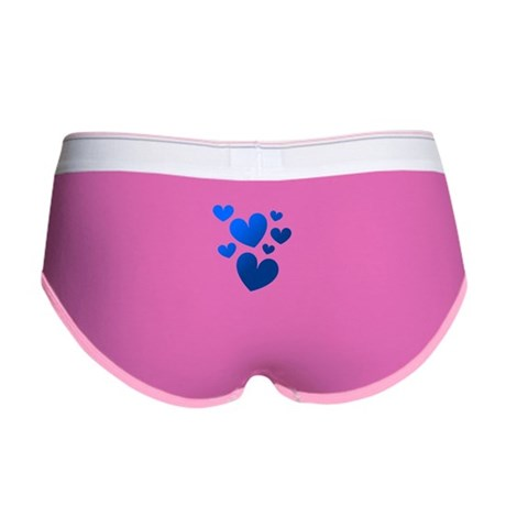 Blue Valentine Hearts Women's Boy Brief