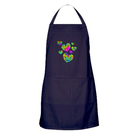Kaleidoscope Hearts Apron (dark)