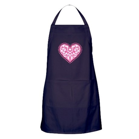 Fancy Heart Apron (dark)