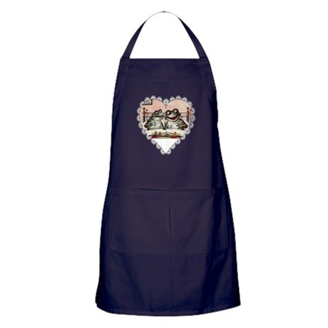Frog Couple Apron (dark)