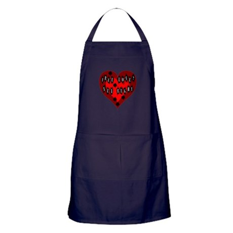 Holes in Heart Apron (dark)