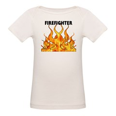 Firefighting Flames Organic Baby T-Shirt