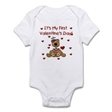 First Valentine's Boy Bear Infant Creeper