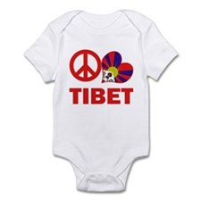 Peace Love Tibet Infant Bodysuit
