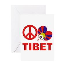 Peace Love Tibet Greeting Card