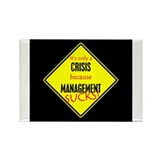 Crisis Management Rectangle Magnet (100 pack)