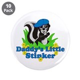 "Daddy's Little Stinker Boy 3.5"" Button (10 pack)"