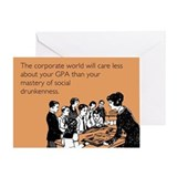 Social Drunkenness Greeting Card