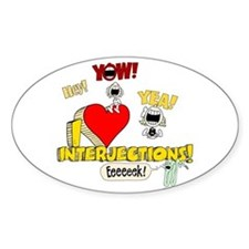 I Heart Interjections Decal