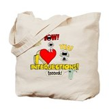 I Heart Interjections Tote Bag