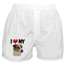 I Love My Jack Russell Boxer Shorts