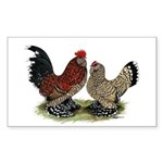 DUccle Mille Fleur Pair Sticker (Rectangle 50 pk)