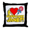 I Heart Interplanet Janet! Throw Pillow