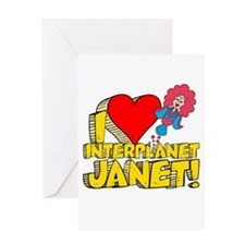 I Heart Interplanet Janet! Greeting Card