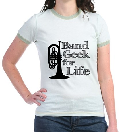 Band Geek for Life Jr. Ringer T-Shirt