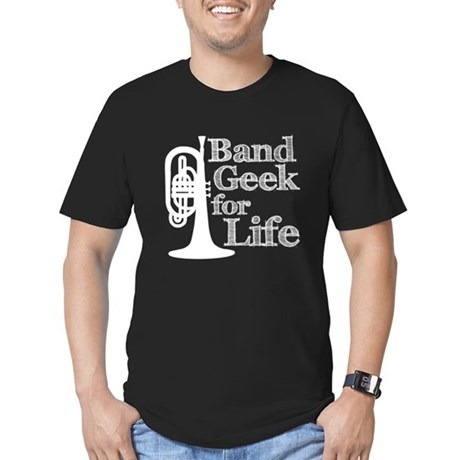Band Geek for Life Men's Fitted T-Shirt (dark)