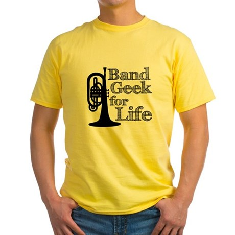 Band Geek for Life Yellow T-Shirt