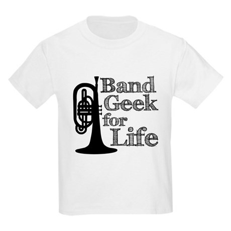 Band Geek for Life Kids Light T-Shirt