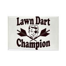 Lawn Dart Champion Rectangle Magnet