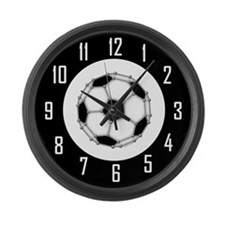 Buckyball Soccer Large Wall Clock